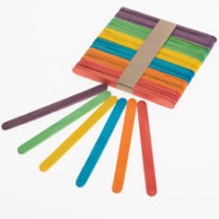 Coloured lolly Sticks wooden Crafts Model Making standard size.