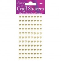 Eleganza Craft Stickers Gold Hearts.