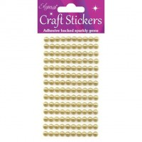 Eleganza Craft Stickers.Pearls.Gold.