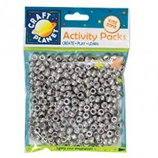 Craft Planet Pony Beads Silver.