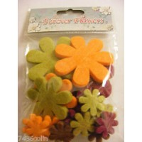 Craftime. Forever Flowers. Boutique Felt.Various Colours