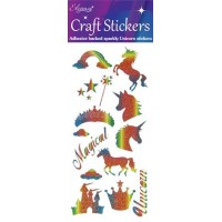 Eleganza Rainbow Glitter Unicorn Stickers.