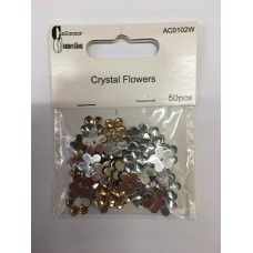 Colour Collection Crystal Flowers.Vanilla/Cream.