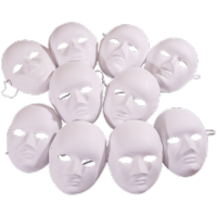 Creation Station.Half Face Masks 10 Pack
