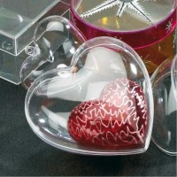 Two Piece Plastic Heart
