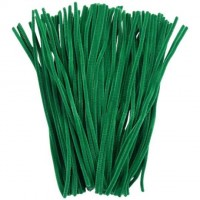 Luxury GREEN chenille craft stems