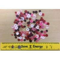 MPAC Buttons.Approx 60g.Pink Mix