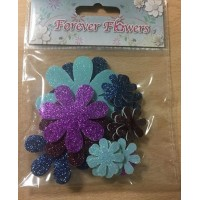 Craftime Forever Flowers.Boutique Glitter Flowers.18pcs.