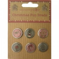 Craftime Christmas Fun Brads Split Pin