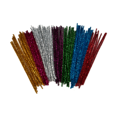 Tinsel Pipe Cleaners 300mm x 6mm Assorted Cols
