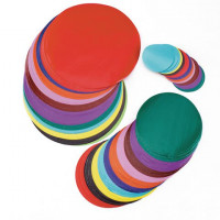 YPO Gummed Glossy Circles.Ass Colours.50mm.100mm.150mm.x 300.
