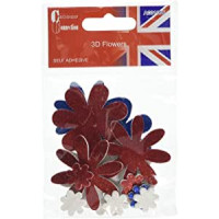 Colour Connection 3D Flowers Union Jack.