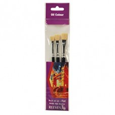 Reeves Hog Bristle Hair Art Brush Pack