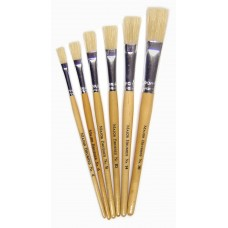 Short Flat Brushes 6pk