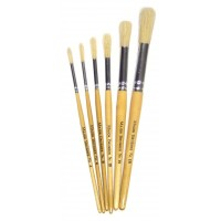 Short Round Brushes 6pk