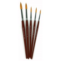 Orange Round Synthetic Sable 5pk