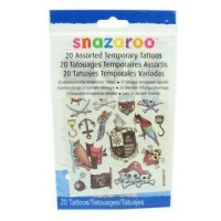 Snazaroo Temporary Pirate Theme Tattoos