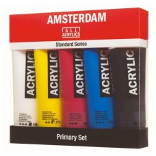 Amsterdam Acrylic Paint Primary Set 5 x 120ml.
