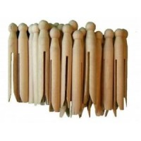 Wooden Dolly Pegs x 24.